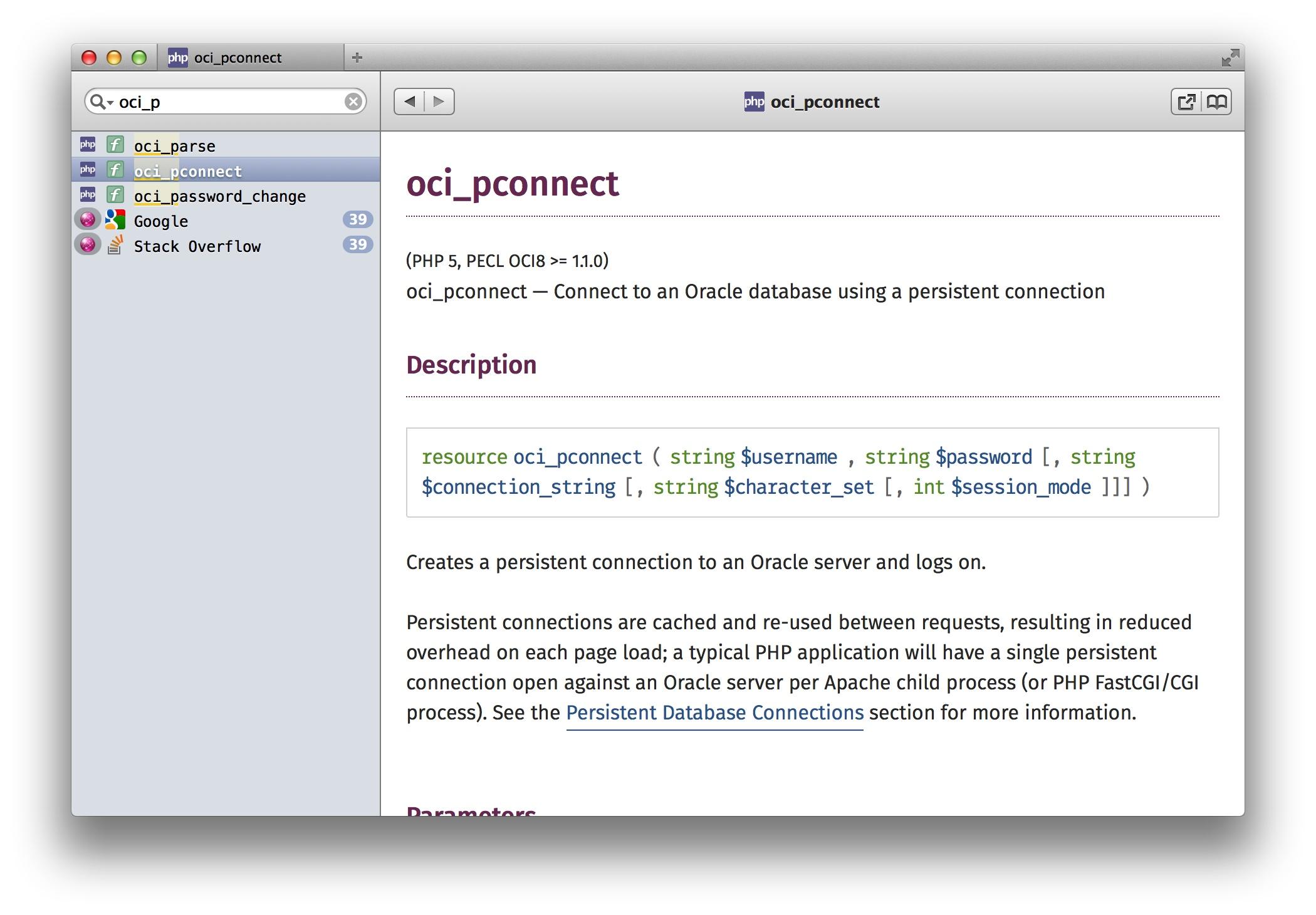 oci_pconnect